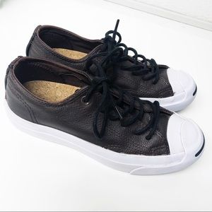 Converse Jack Purcell Ox Brown Leather Sneakers
